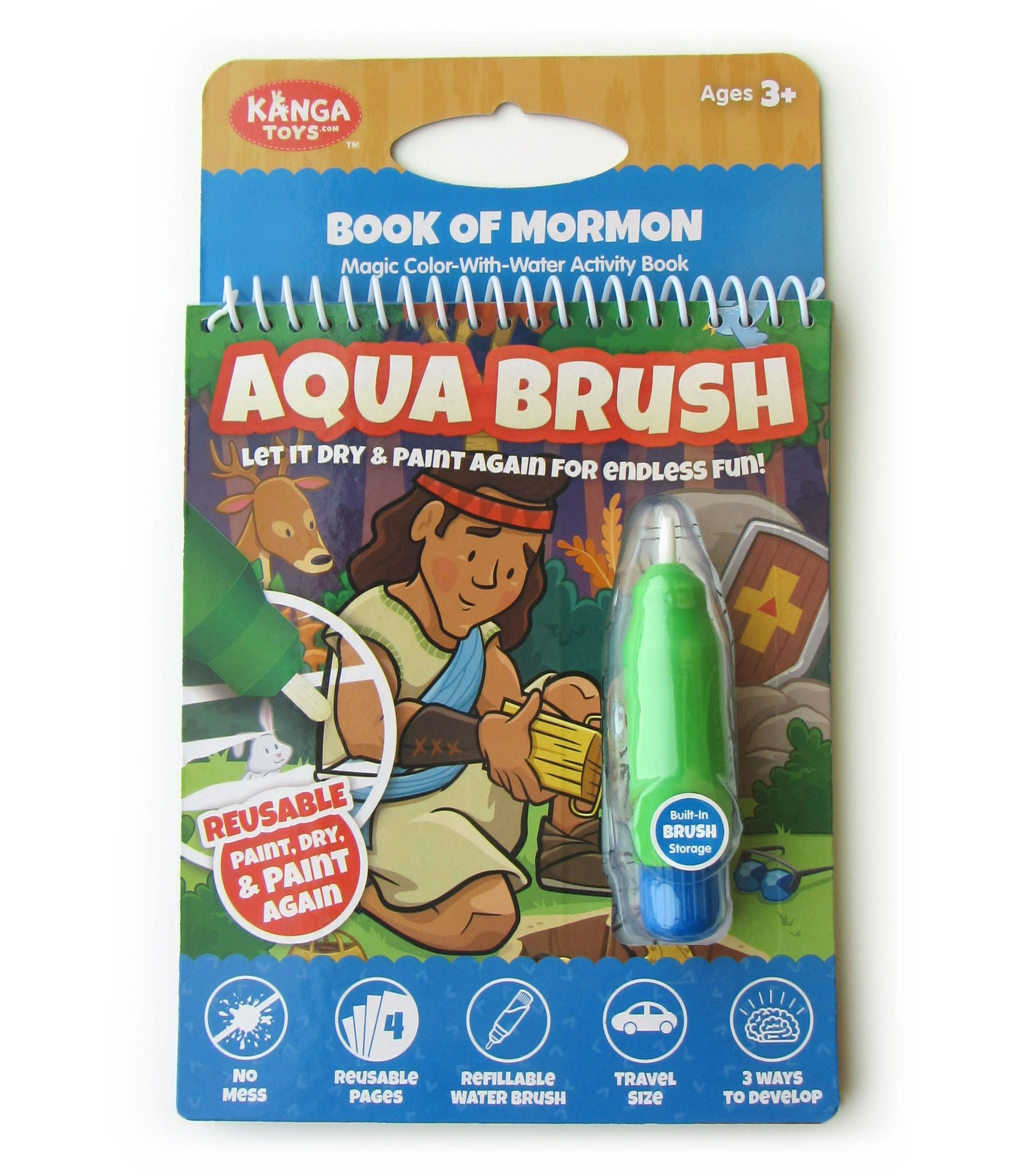 Book of Mormon Aqua Brush Activity Book, Reusable Travel Activity