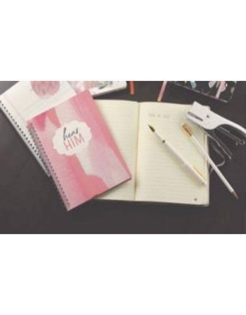 Hear Him Journal Marbled Pink