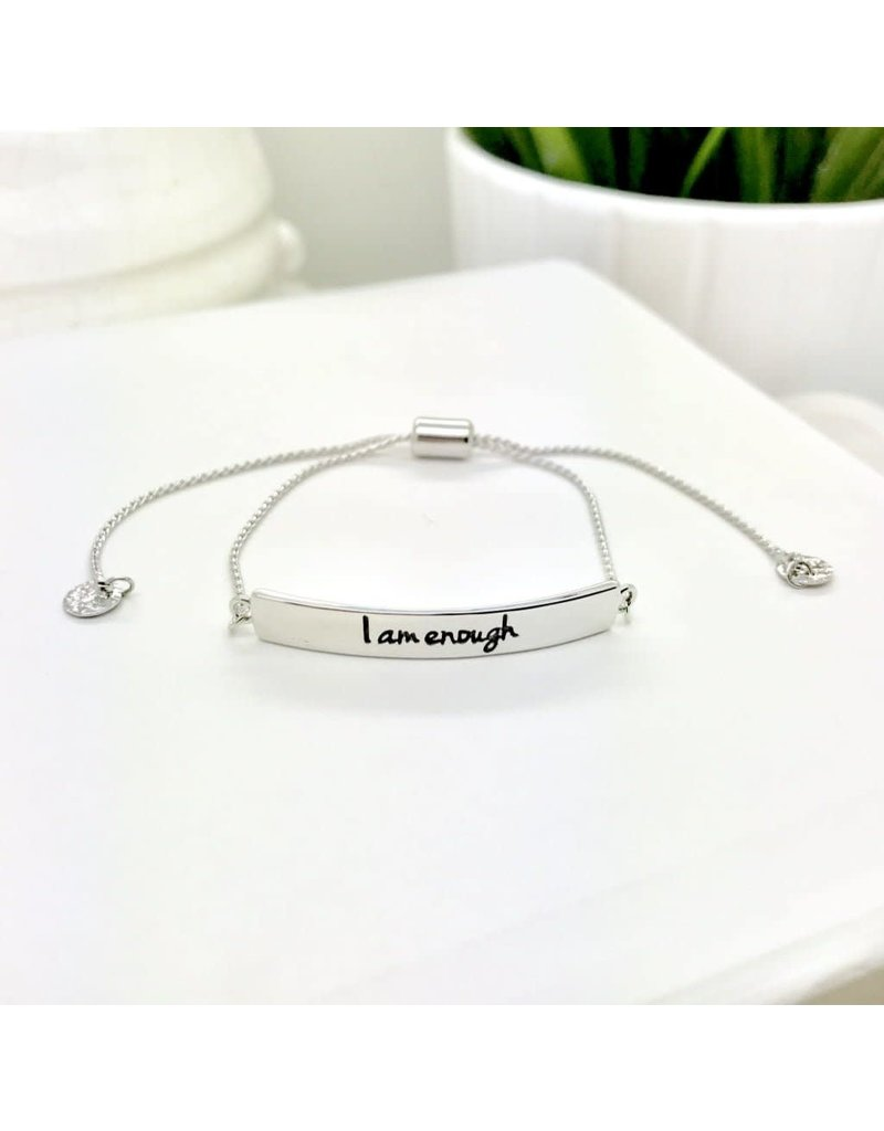 I Am Enough Bracelet Silver
