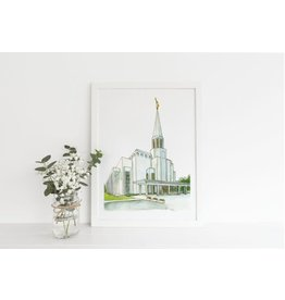 Preston Temple 5X7 Print - Castel Arts Print Only
