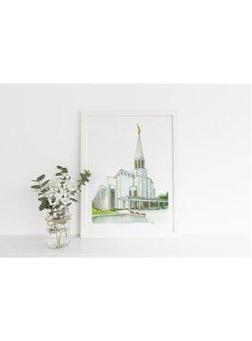 "Preston Temple  6""x 8"" Print - Castel Arts Print Only"