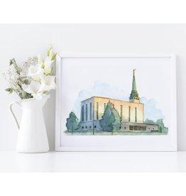 "London Temple 6""x 8"" Print - Castel Arts Print Only"