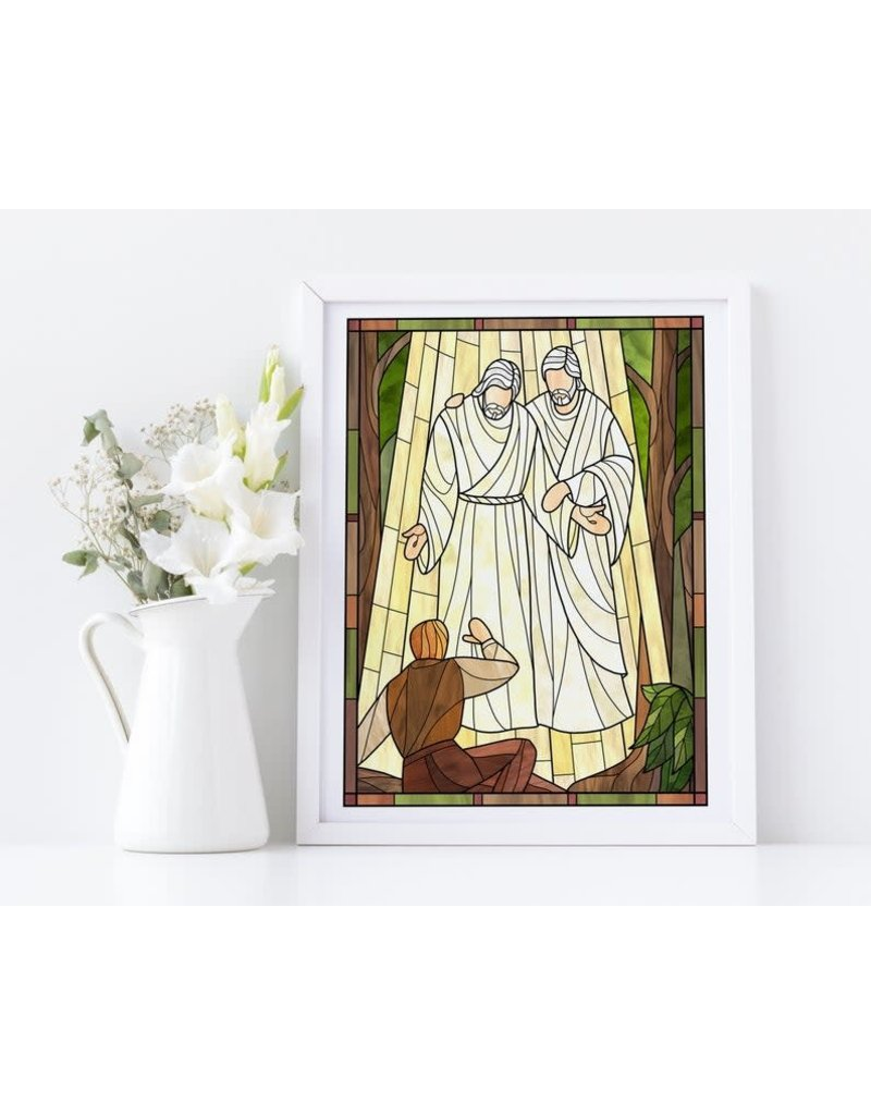 """Hear Him Stained Glass   6""""x 8"""" Print - Castel Arts Print Only"""