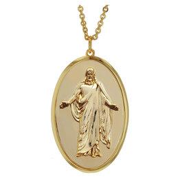 Christus Pendant Necklace - Gold