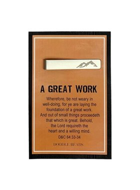 A Great Work 2021 LDS Youth Theme, Mountain Tie Bar & Scripture Card
