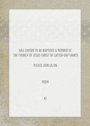 Baptism Invitations Neutral