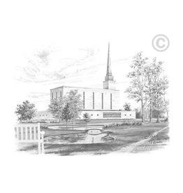 London England Temple 5x7  Chad Hawkins Print