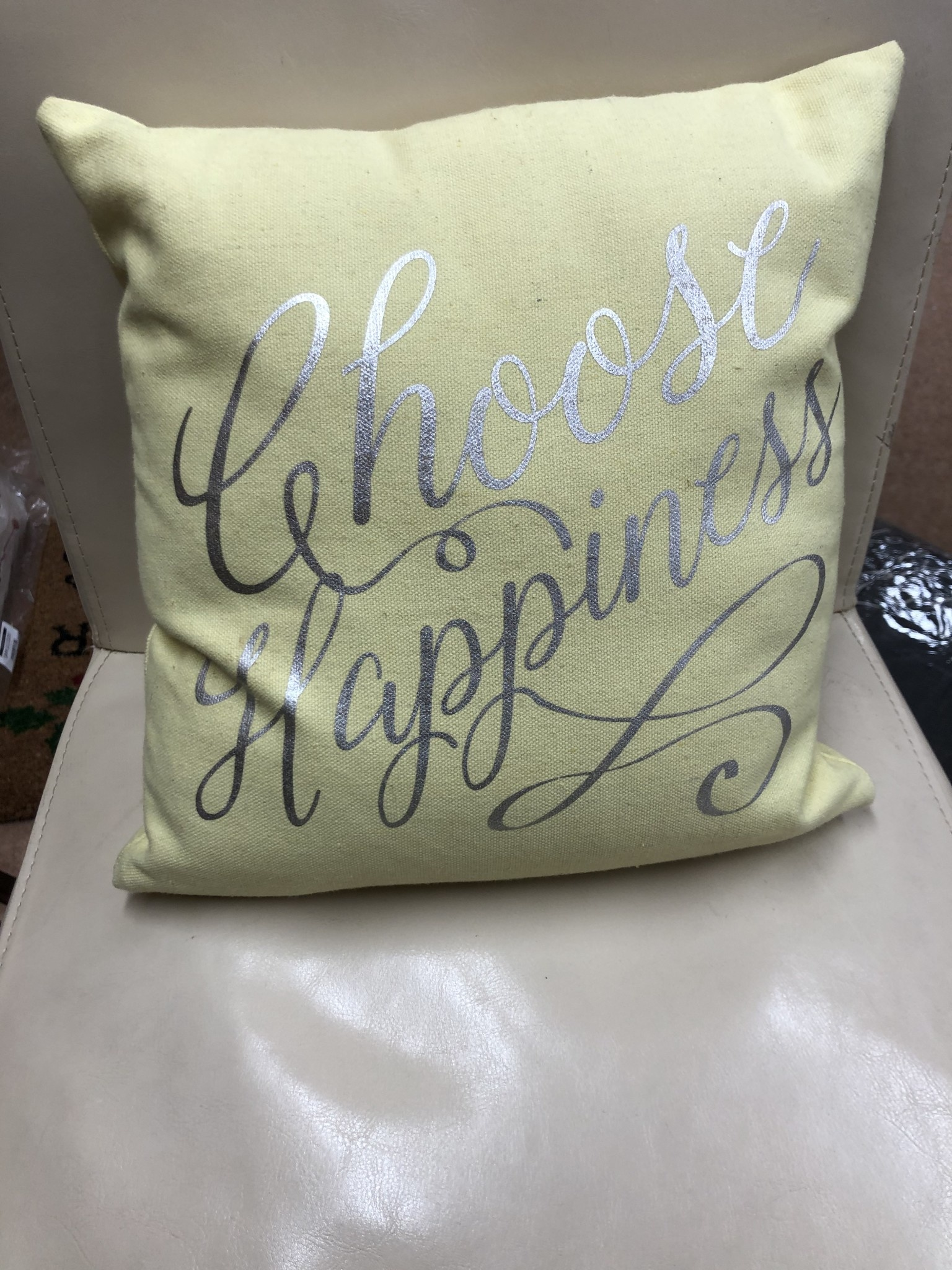 """'Choose Happiness' Pillow 12""""x12"""""""