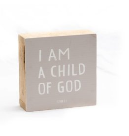 Revelation Culture 6 x 6 Kids Wood Block Sign | I am a child of God  Pink,