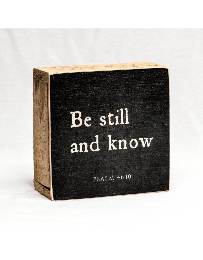 Revelation Culture Be Still And Know |Traditional Block - Black