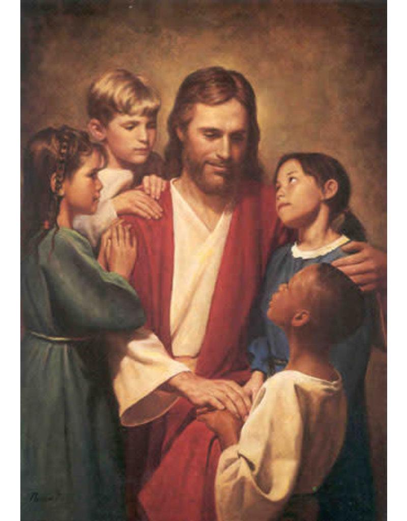 Del Parson Christ and Children 5x7 Print Del Parson