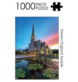 Preston England Temple 1000 Piece Puzzle by Jonathan Ellison