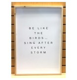 Be Like the Birds Wall Art White Metal 24inch