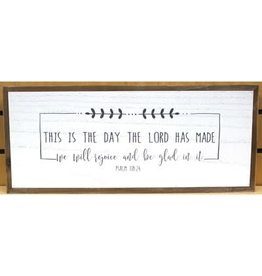 This Is the Day Wall Art White 18X8 Inch