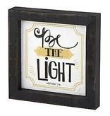 Faire:  Heartfelt by Creative Brands 5x5 Tbltp-C-Be The Light