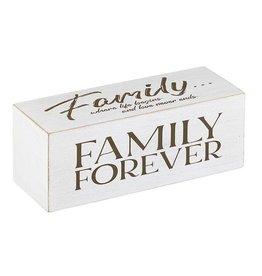 Faire:  Heartfelt by Creative Brands 8x3 4 sided Shelf Block-Family