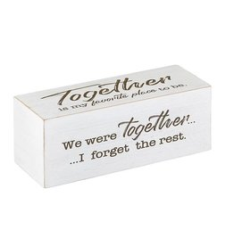 Faire:  Heartfelt by Creative Brands 8x3 4 sided Shelf Block-Love Together