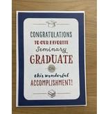 Congratulations Seminary Graduation Card