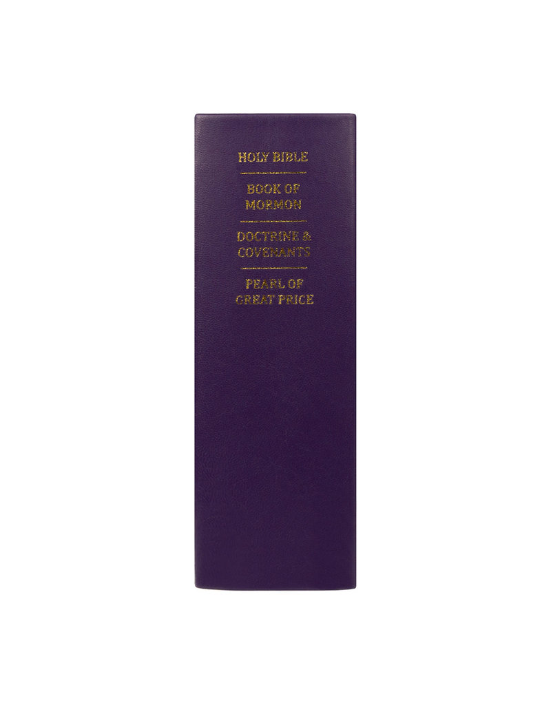 Hand-Bound Leather Quad - Violet