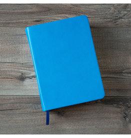 Hand-Bound Leather Quad - Aqua Blue