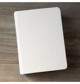 Hand-Bound Leather Quad - White