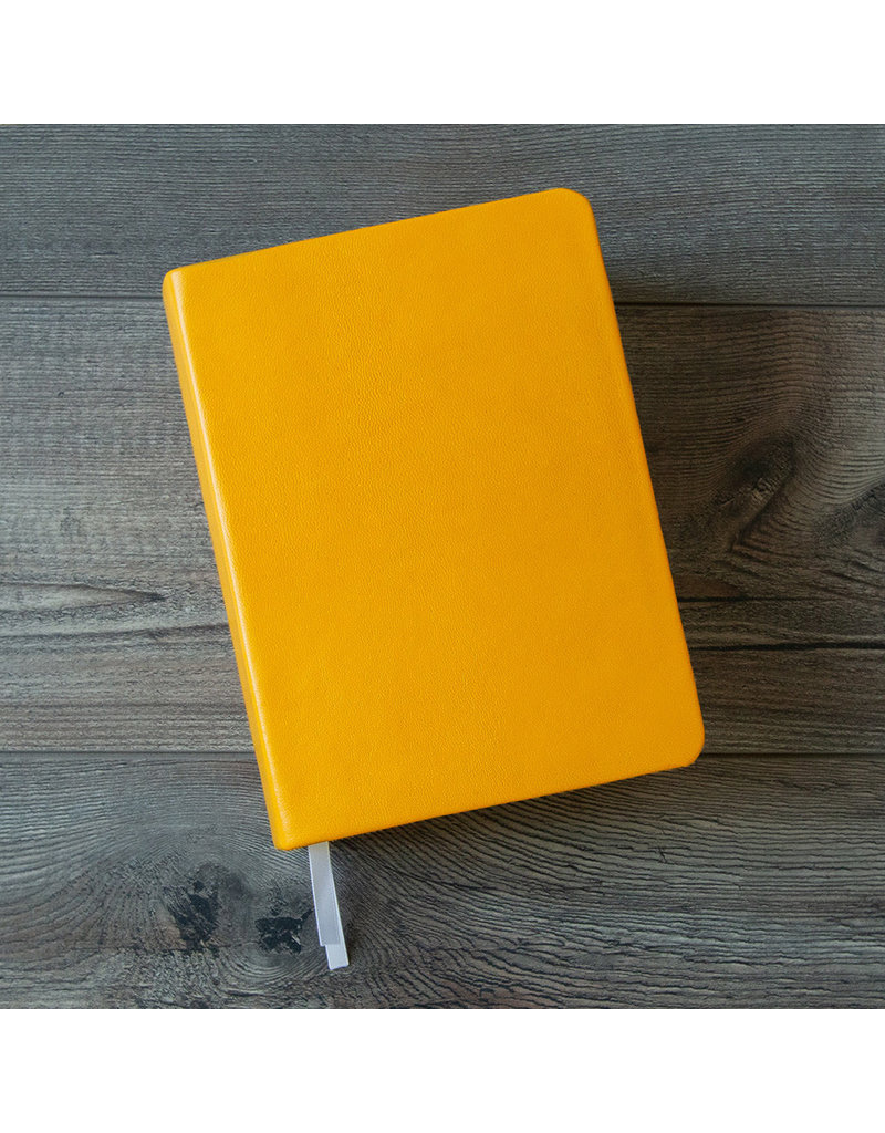 Hand-Bound Leather Quad - Canary Yellow