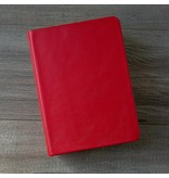 Hand-Bound Leather Quad - Cherry Red