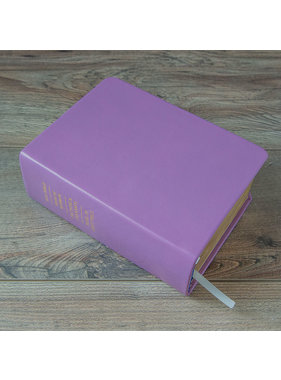 Hand-Bound Leather Quad - Lilac