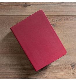 Hand-Bound Leather Quad - Red Plum