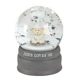Faire: Dicksons Gifts Snow Globe Jesus Loves Me Resin