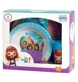 Faire: Dicksons Gifts He Loves Me Mealtime Set - Moses