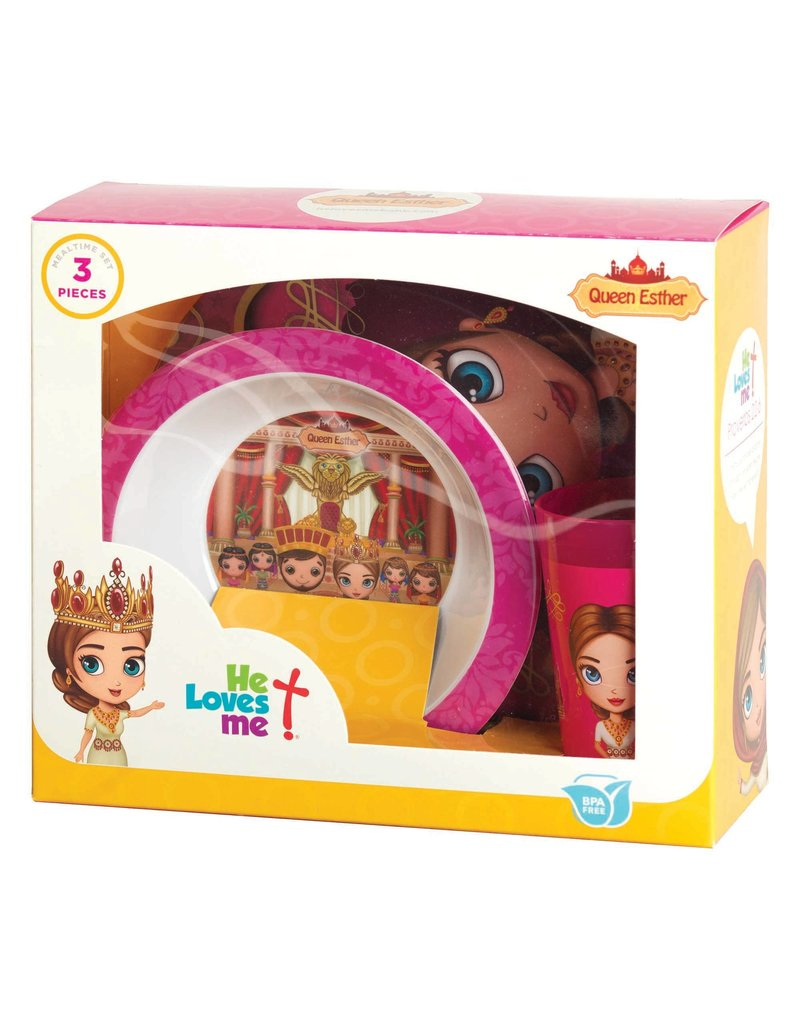 Faire: Dicksons Gifts He Loves Me Mealtime Set - Queen Esther