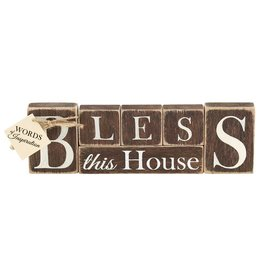 Faire: Dicksons Gifts Tabletop Word - Bless This House