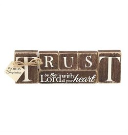 Faire: Dicksons Gifts Tabletop Word - Trust In The Lord
