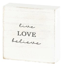 """Faire: Dicksons Gifts Tabletop Live Love Believe 3"""""""