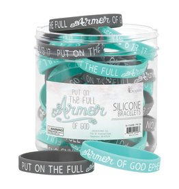 Faire: Dicksons Gifts Silicone Band - Put on the full armour (Grey/Teal)