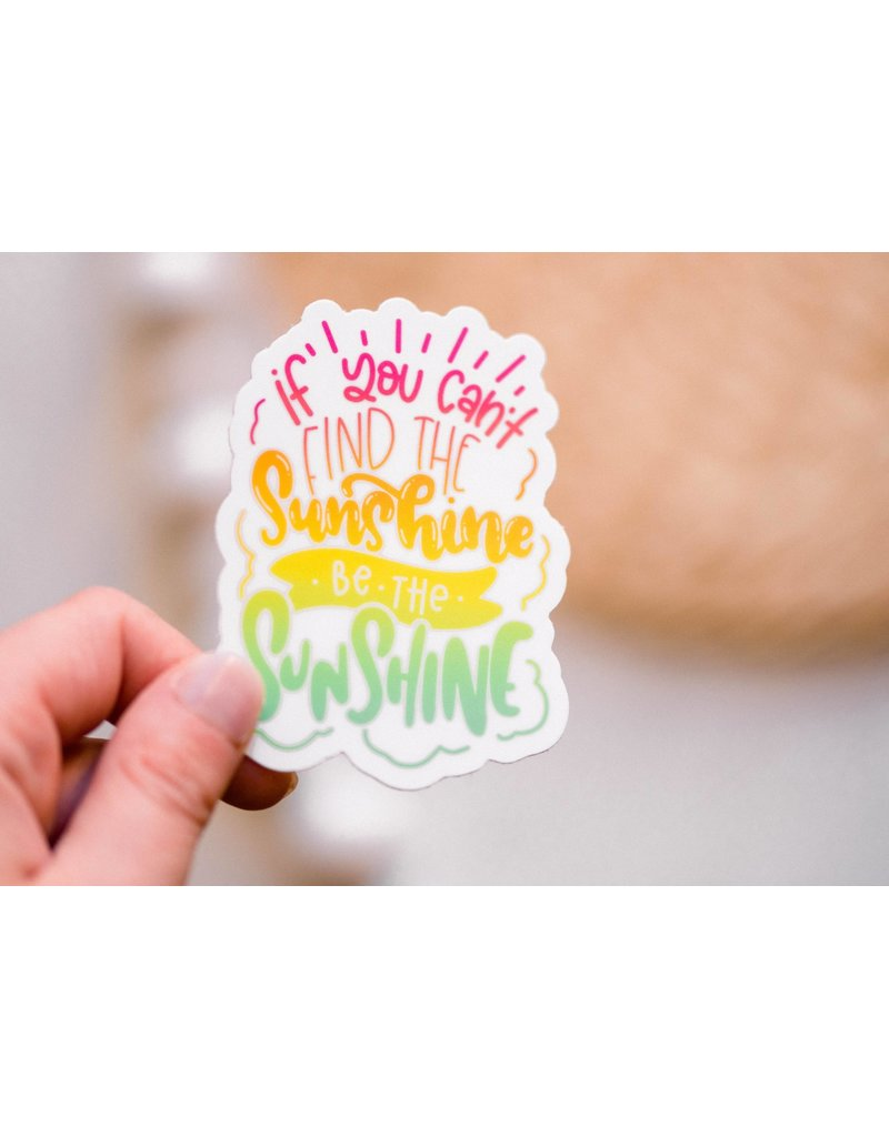 Faire: Savannah and James Co Be The Sunshine Vinyl Sticker, 3x3 in