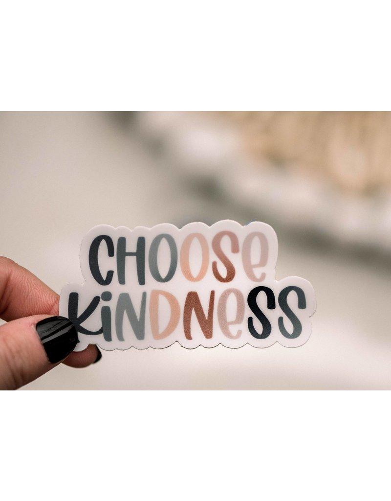 Faire: Savannah and James Co Choose Kindness Pastel Vinyl Sticker, 3x3 in