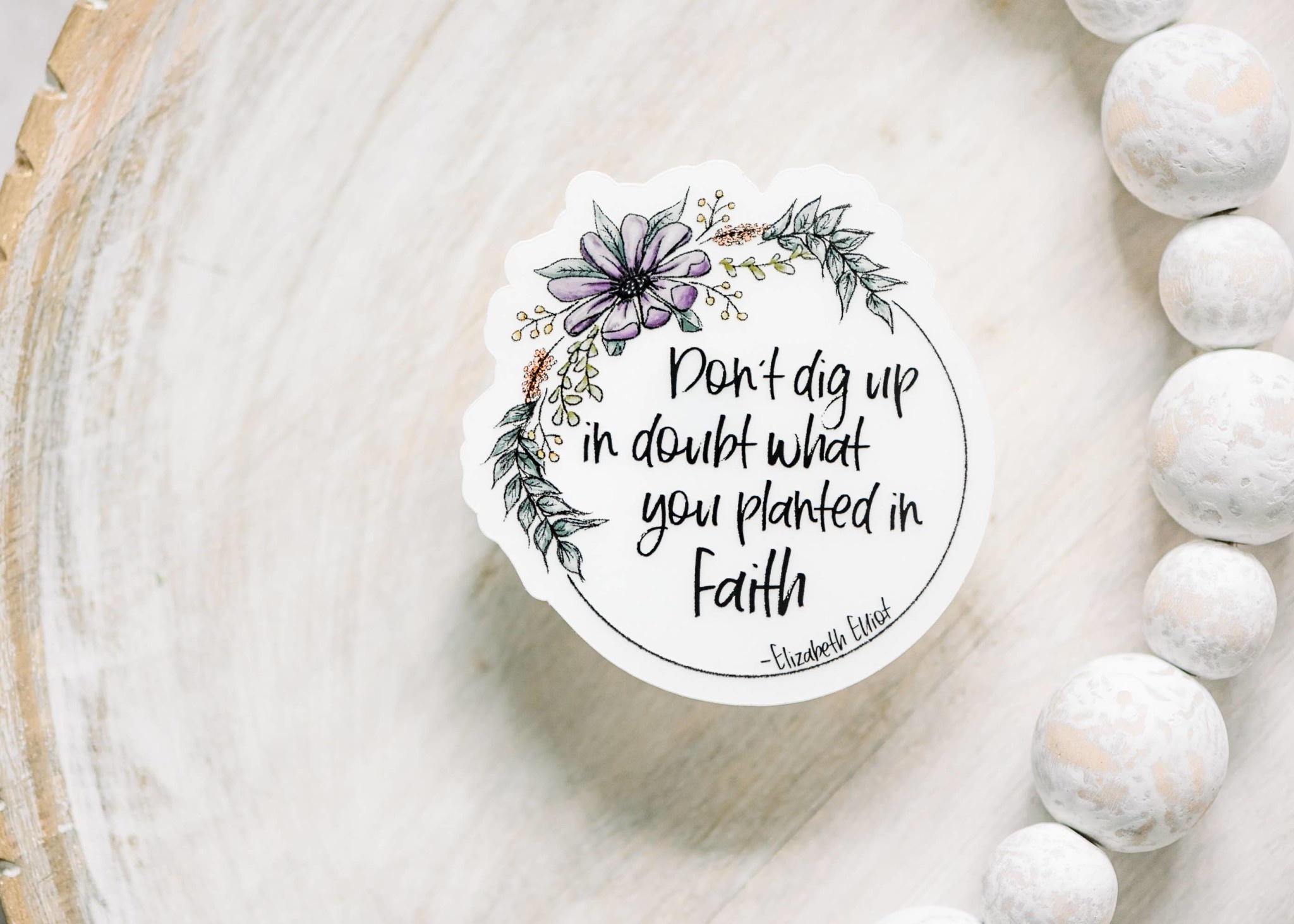 Faire: Savannah and James Co Christian Quote Sticker Clear, Vinyl Sticker, 3x3 in