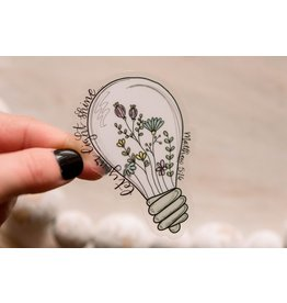 Faire: Savannah and James Co Let Your Light Shine Clear Vinyl Sticker, 3x3 in