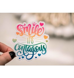 Faire: Savannah and James Co Smile Its Contagious Vinyl Sticker, 3x3 in