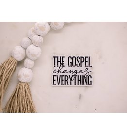 Faire: Savannah and James Co The Gospel Changes Everything, Vinyl Sticker, 3x3 in