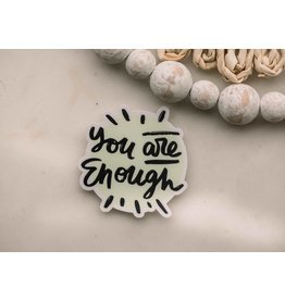 Faire: Savannah and James Co You Are Enough Splat Vinyl Sticker, 3x3 in