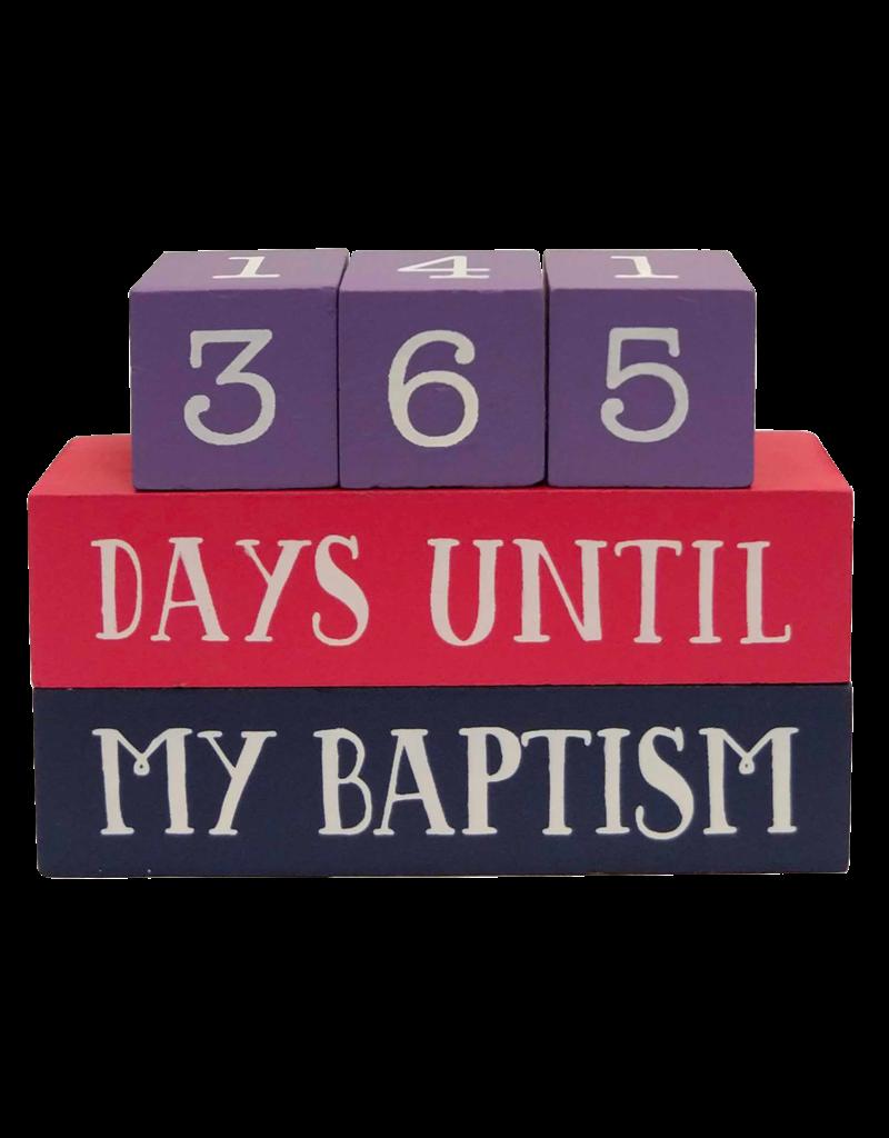 Baptism Countdown Block Set (Purples)