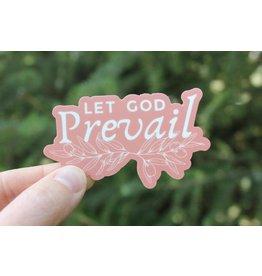 ETSY: AspenWoodDesign Let God Prevail Vinyl Sticker