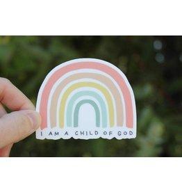 ETSY: AspenWoodDesign I am a Child of God Vinyl Sticker, Rainbow Sticker