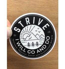 ETSY: AspenWoodDesign Strive I Will Go And Do. Vinyl Sticker,