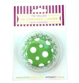 DISCONTINUED DISCONTINUED LAST CHANCE - YW VALUES 48 CUPCAKE LINERS  (KNOWLEDGE, GOOD WORKS, INTEGRITY & VIRTUE)