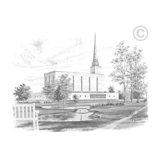 London England Temple 3X4 PRINT Chad Hawkins Print