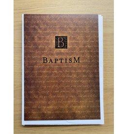 Brown Baptism Greetings Card